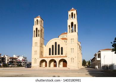 Paphos, Cyprus - MAy 02 2019: Agioi Anargyroi Church in Pafos, Cypr