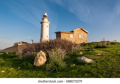 Paphos lighthouse in archaeological park, Cyprus