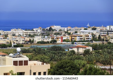 Paphos skyline view from a window