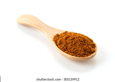 paprika powder on wood spoon