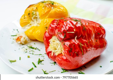 Paprika with rice filling