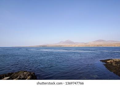 The Paps of Jura seen from Caol Ila on Islay, Scotland