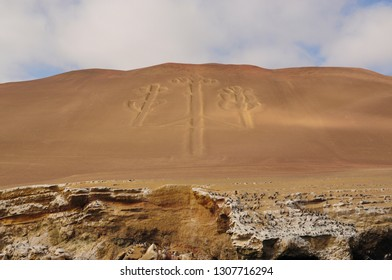 The Paracas Candelabra, also called the Candelabra of the Andes.