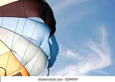 Parachute against blue sky