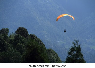 Parachute gliding in Kalimpong, India