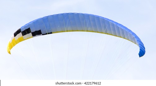 parachute on a sky background