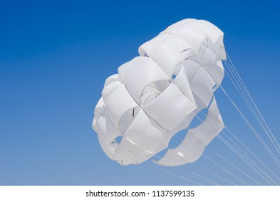 parachute in sky background