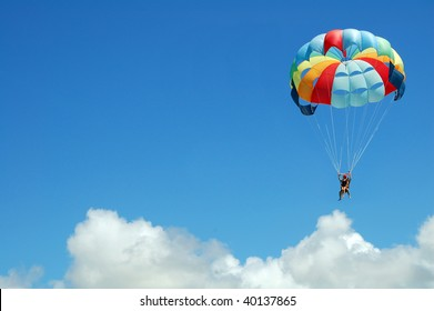 Parachuting above the clouds