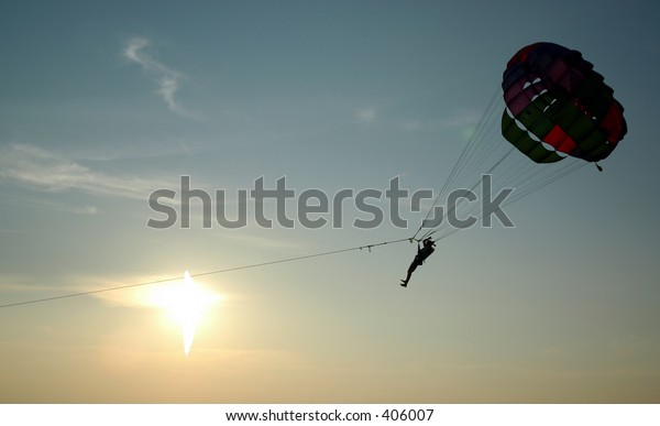 Parachuting By The Sea
