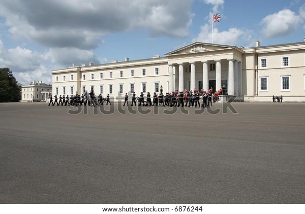 Parade at British Royal Military Academy Sandhurst