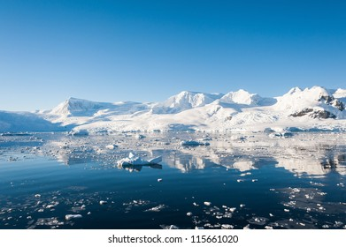 Paradise bay in Antarctica,