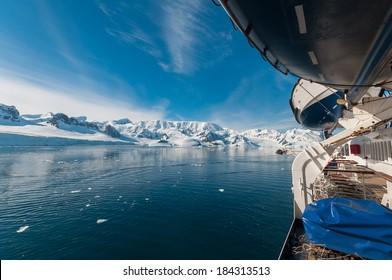 Paradise Bay Antarctica ocean and mountain view