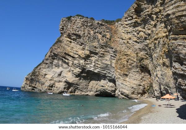 Paradise Beach Corfu Greece Stock Photo (Edit Now) 1015166044