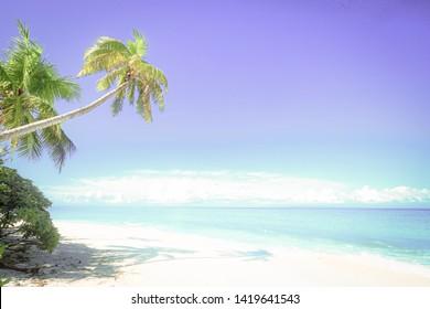Paradise beach at Fiji islands