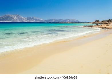 Paradise beach on Koufonisia off the coast of Naxos, Cyclades, Greece