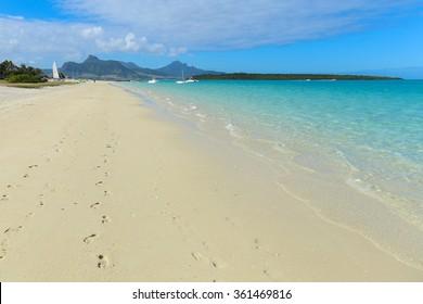 Paradise beach on Mauritius