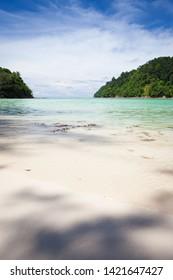 Paradise beach at Sapi island Kota Kinabalu Sabah Malaysia