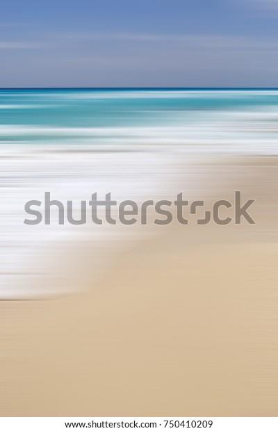 Paradise Beach View Motion Blur Effect Stock Photo Edit Now 750410209