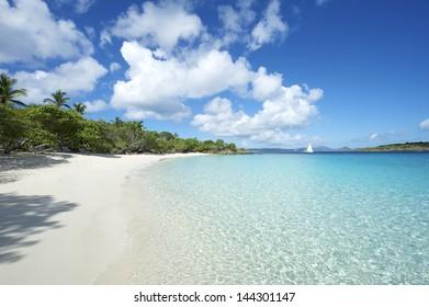 Paradise Caribbean Beach Virgin Islands Horizontal at St John USVI