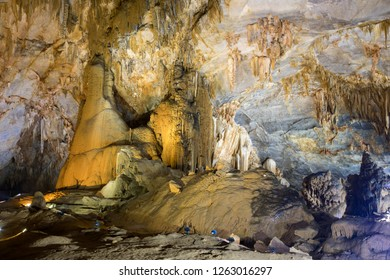 Paradise Cave, Vietnam.  Surrounded by forested karst peaks, this remarkable cave system extends for 31km. The scale is breathtaking with colossal stalagmites and glimmering stalactites.  UNESCO World