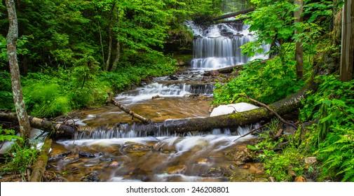 Paradise Found. Beautiful Wagner Falls in Michigan's Upper Peninsula.