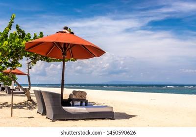 Paradise Geger beach on Bali island in Indonesia