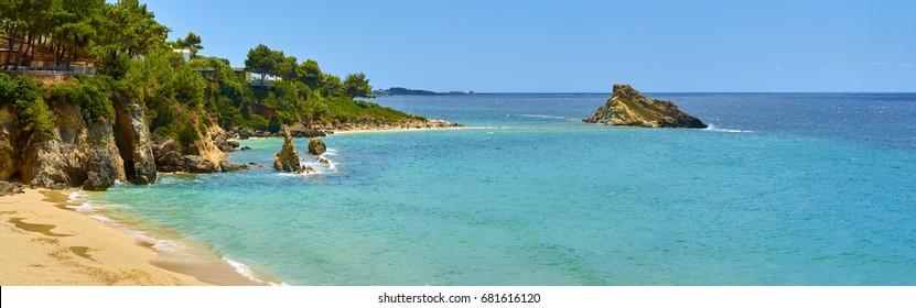 The Paradise is here! Platis Gialos beach in Lassi; Kefalonia island, Greece