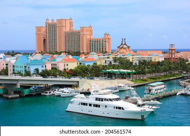 Paradise island and Atlantis resort in Nassau, Bahamas