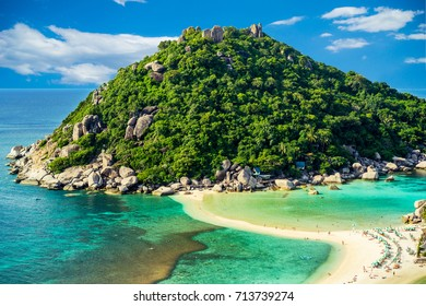 Paradise island Nang Yuan located near Koh Tao, Thailand