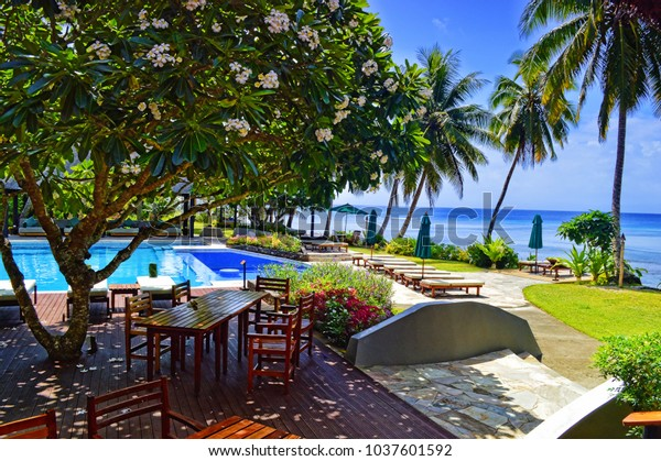 Paradise Like Resort Pool Fiji Islands Stock Photo Edit Now