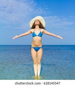 Paradise Portrait Beach Girl