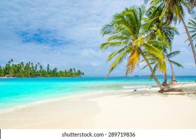 Paradise Tropical Island with white beach