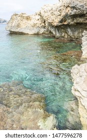Paradise, turquoise Mediterranean sea waters on the beaches of the island of Mallorca, Balearic Islands, Spain
