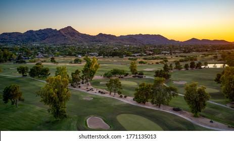Paradise Valley Arizona United States southwestern sunset. - Shutterstock ID 1771135013