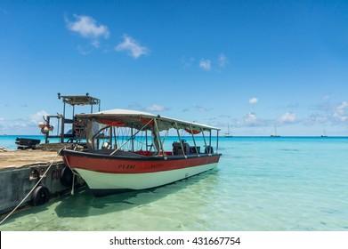 Paradise view of Rangiroa atoll, French Polynesia