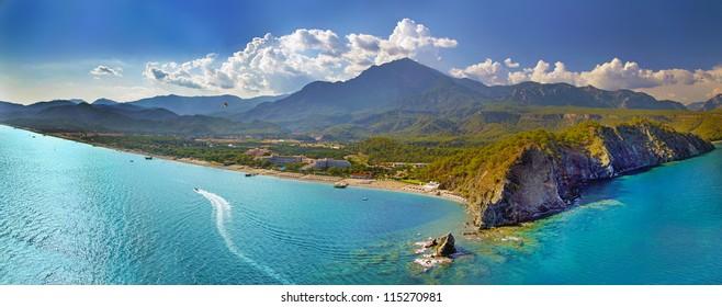 Paradise view of Tekirova in Turkey