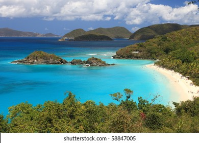 Paradise-like US Virgin Islands in the Caribbean. Turquoise ocean and lovely landscapes., Paradise-like US Virgin Islands in the Caribbean. Turquoise ocean and lovely landscapes.