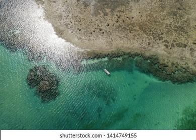 Paradisiac beach with crystal water. Brazillian Caribbean. São Miguel dos Milagres, Alagoas, Brazil.