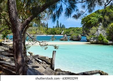 Paradisiacal Beach in New Caledonia
