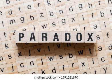 Paradox word concept on cubes