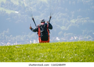 Paragliding at the Black Forest, Germany