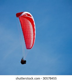 Paragliding in the blue skies of Germany