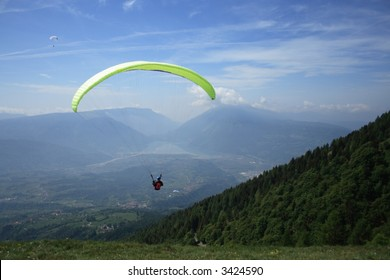 Paragliding in the Dolomites, Italy