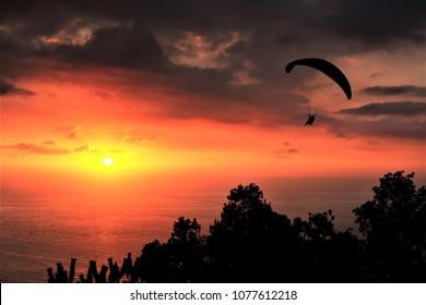 paragliding at Jounieh, Lebanon
