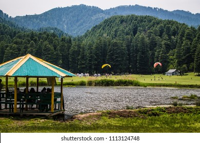 Paragliding near the Khajjiar Lake