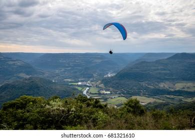 Paragliding at Ninho das Aguias (Eagle's Nest) - Nova Petropolis, Rio Grande do Sul, Brazil