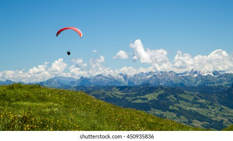 Paragliding off of Mt. Rigi, Switzerland