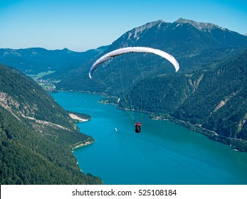 Paragliding over the Achensee in Tyrol