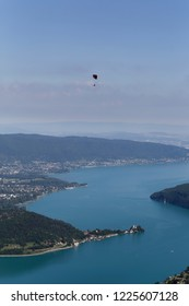 Paragliding over Lake Annecy  France