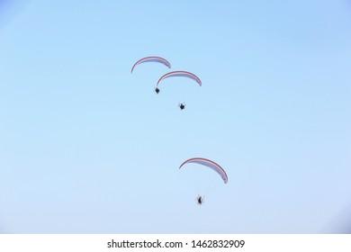 Paragliding in Qatar  Qatar National Day